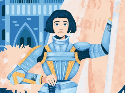 Joan Of Arc limited edition art print warrior girl illustration character design knight france joan of arc girl
