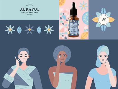Auraful Identity scandinavian style diversity women cosmetics packaging branding identity