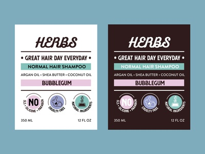 Shampoo Labels