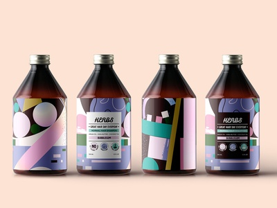 Herbs Bubble Gum Shampoo Concept