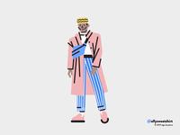 Boy in a coat