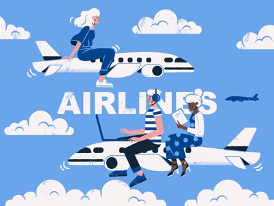 Airlines Travel Concept