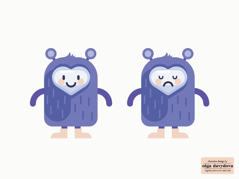 Cute Character for an App kawaii cute monster icon vector illustration illustration flat character design