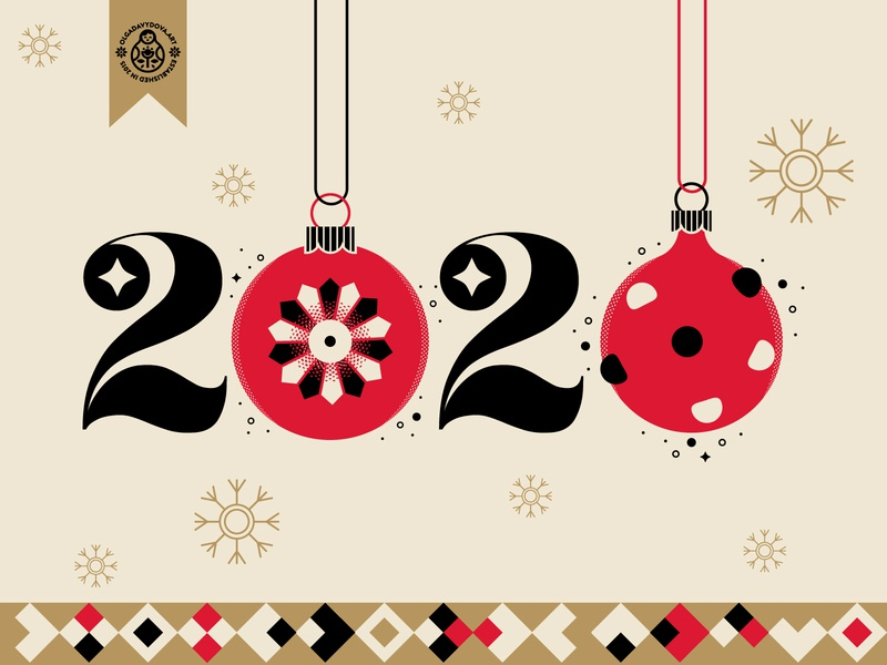 2020 🥳 vector illustration postcard happy new year 2020