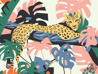 Plant Heroes  (Fragment with a Leopard)