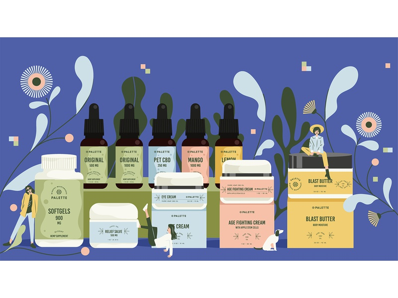 Product Illustration for Palette brand people tiny product illustration