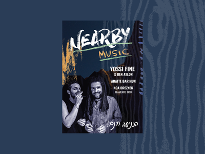 Nearby Music - Poster for a Live Music Performance music print poster design