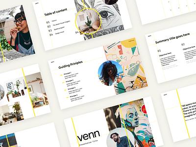 Venn's Presentations Template guidelines branding graphic design brand slides kit template presentation template presentation