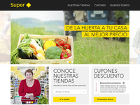 Supermarket corporative home site