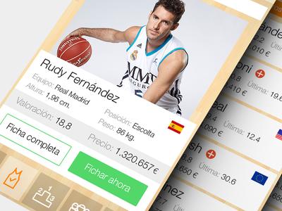 iOS7 Spanish Basketball League game app
