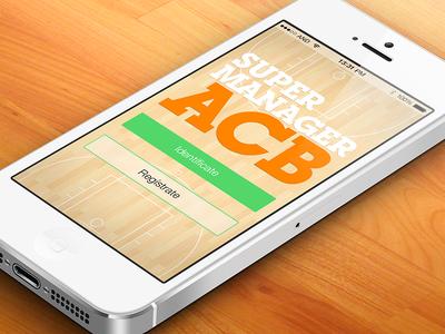 iOS7 Spanish Basketball League game app / 2