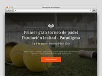 Padel landing page