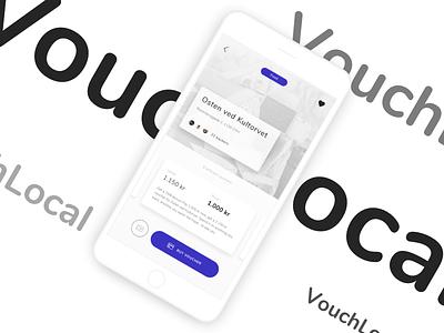 Voucher app concept - Business profile interaction design payment voucher shopping mcommerce ecommerce uxdesign uidesign app ux ui