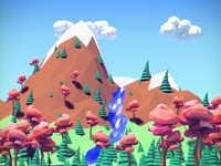 Low Poly Forest Scene