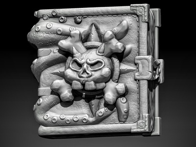 Zbrush 1st Sculpt skull pirate book stylized sculpt 3dmodeling 3d zbrush