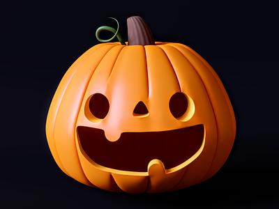 Jack-o-Lantern 3dmodeling blender b3d 3d halloween