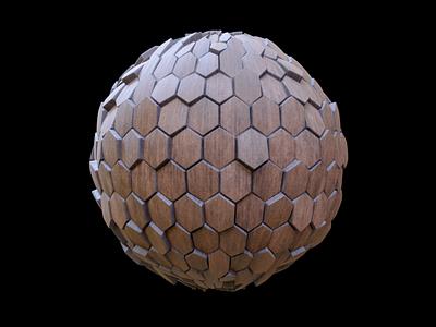 Wood Hexagon Tiles procedural wood substance designer blender3d 3d 3dmodeling