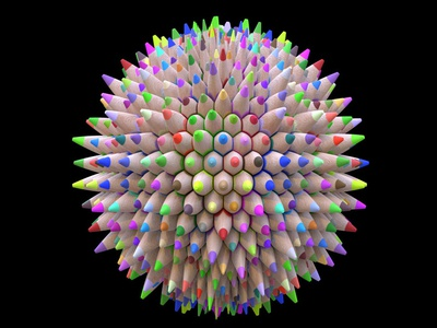 Colored Pencils texture substancedesigner procedural texture substance designer 3d 3dmodeling