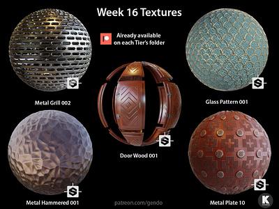 Week 016 Textures cc0 free archviz textures architecture 3d blender b3d 3dmodeling