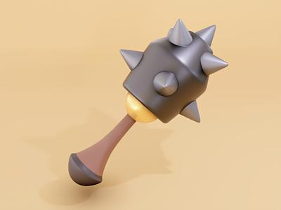 Mace cute weapon blender3d blender b3d 3dmodeling 3d art 3d