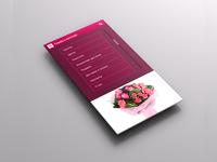 Mobile flower shop UI