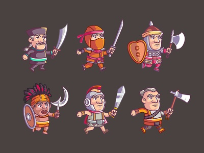 Warrior Cartoon Game Character 7 To 14