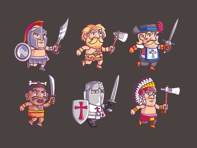 Warrior Cartoon Game Character 13 To 18