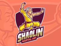 Shaolin Martial Art Master Logo