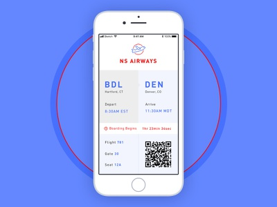 Daily UI - 24 Boarding Pass ui ux boarding pass mobile app @dailyui iphone 8 iphone