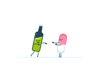 Pill don't like an alcohol