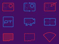 LIVE4 GoPro Warnings Icons