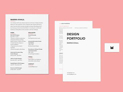 Personal Branding [2020 Edition] ui ux porfolio cv print website flat minimal web design brand design branding pink cute