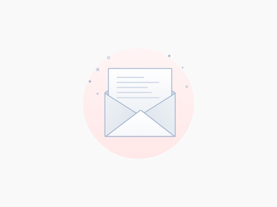 Cute Email Graphics letter minimal cute pink gradient email
