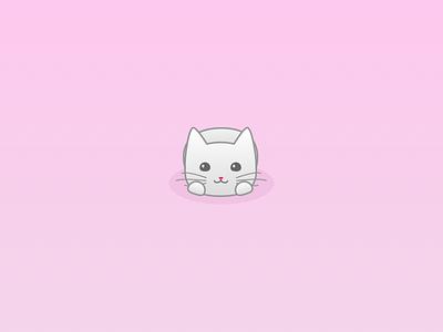 Cat Illustration pink cute illustration cat