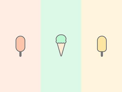 Ice Cream Icons ice cream pastel summer mint pink illustration graphics cute