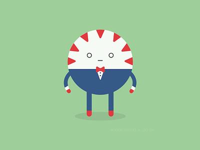 Peppermint Butler flat design cute illustration adventure time