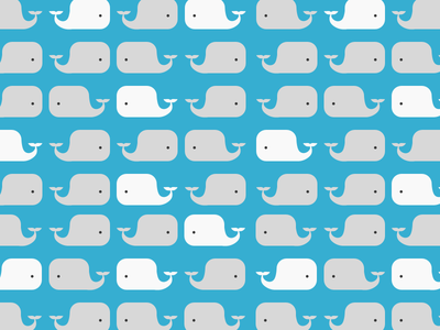 Whales Pattern illustration pattern blue cute whales