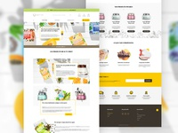 Webdesign cosmetics e-shop designer graphics yellow brown vegan natural homepage store eshop web sketch product cosmetics shop ecommerce ui interface design webdesign