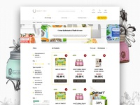 Webdesign cosmetics shop store ecommerce shop cosmetics naturalistic web webdesigner yellow brown natural product category interface ux ui graphic design webdesign