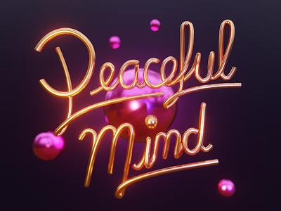 Mood of the summer 3drender 3d blender blur focus illustration orange blue mind peaceful lettering render