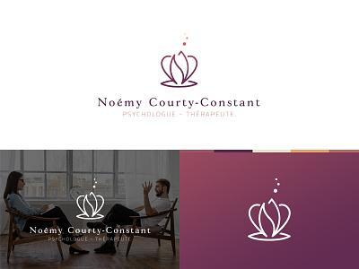 Branding psychologist logo brand zen purple design white clean branding design ncc flower psychologist mark brand identity logodesign logotype branding