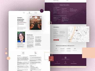Psychologyst webdesign homepage onepage grid dot white calm zen psychologyst uidesign website uiux ui interface webdesign design clean