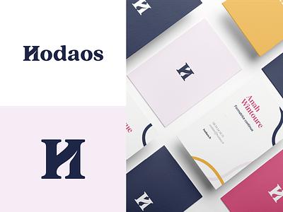 Hodaos Branding serifs letter typogaphy font coach coaching identitydesign branding design logotypedesign logo logotype