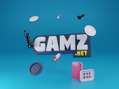 Gamz.net design logo gaming mahjong reversi chess responsive dashboard uxdesign uidesign webdesign mobile illustration 3d interface ux ui game play