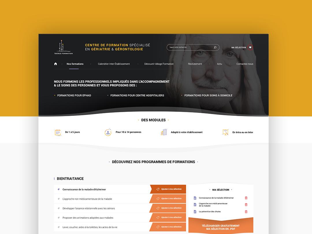 #WIP Webdesign Training Staff corporate dribbble ui clean homepage design webdesign staff training purple yellow orange white