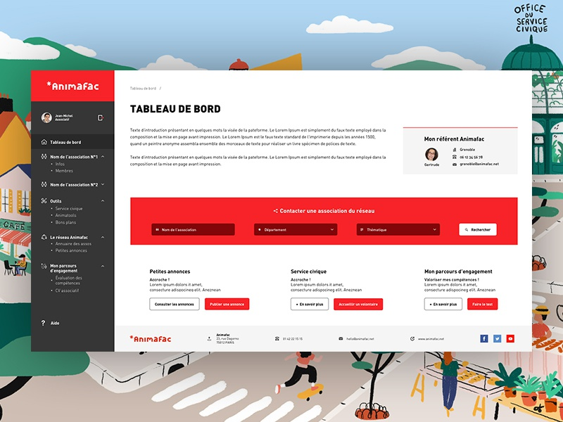 Design UI white illustration uiux clean  creative grey red webdesign uidesign