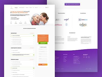 Homepage webdesign rebound training staff homepage purple ux orange white webdesign ui design grey logo clean