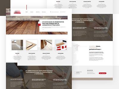 Wood Factory Webdesign wood block brown redbull ui design grey white grid corporate factory floor wood clean homepage webdesign ui design ui web design