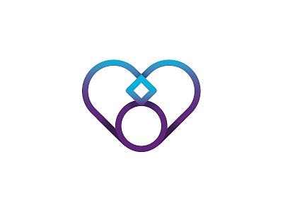 Heart logo transgender #2 love marketing purple gradient heart wedding mark identity design logotype branding blue logo clean