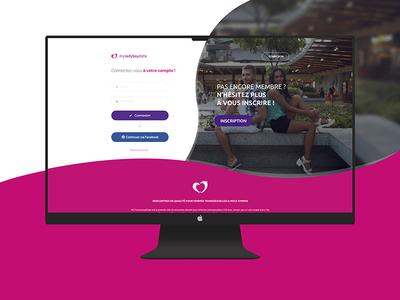 Login page - Webdesign